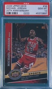 2009 Upper Deck Basketball #36 Michael Jordan 20th Anniversary PSA 10