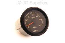 Tachometer 0-6000 RPM 52mm W input terminal Alternator or ignition coil Rev