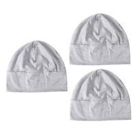 3x adultes hommes unisexe tout coton bonnets de nuit patch de sommeil casquette