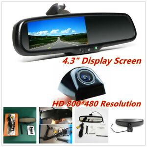 "4.3"" Reversing Auto Dimming Rear View Mirror Monitors w/Rear Camera Night Vision"