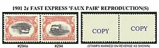 U.S. 1901 2¢ FAST EXPRESS 295a + 295 FAUX PAIR