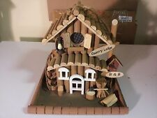 Country Lodge Birdhouse Collectible
