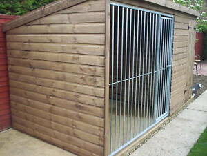 Dog Kennel & Run With Galvanised Run Panel  - From £545