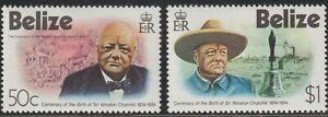 1974 Belize SC# 363-364 - Sir Winston Churchill 1874-1965 - M-H