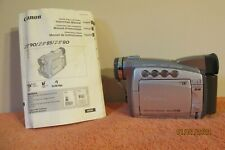 Canon Zr85 Mini Dv Cf Card Stereo Digital Camcorder Video - Works - No Charger