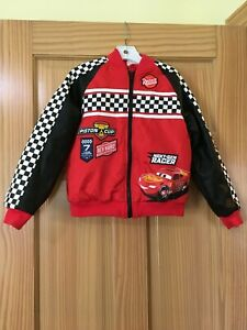 NWT DISNEY Store Cars Lightning McQueen Boy Jacket Red many sizes
