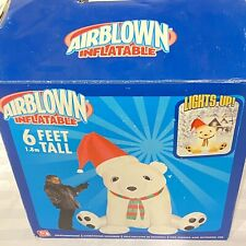 Airblown Inflatable 6 ft. Christmas Bear by Gemmy In Box - Floor Model 2005