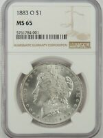 1883-O $1 MORGAN SILVER DOLLAR NGC MS65 #5761784-001 GEM WITH EYE APPEAL!!!