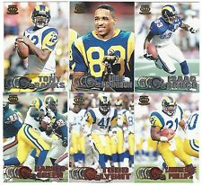 1997 Pacific Silver & Copper St Louis Rams 6 card lot