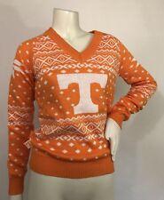 University of Tennessee Campus Specialties Fair Isle Sweater Orange White XS