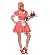 Womens Ladies 50S American Diner Waitress Adult Fancy Dress Costume Outfit M