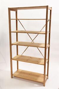 Lundia solid wood shelving bookcase shelf closet bookshelf home office shelfs