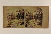 UK Scena Historique Foto Colorized Stereo Vintage Albumina c1865