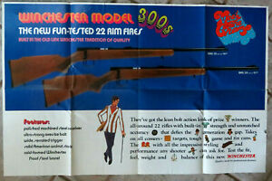 VTG WINCHESTER Models 310 & 320 .22 Rifles Fold Out Mailer Poster Meet the Champ