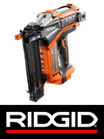 "RIDGID 18v 18-GAUGE 2-1/8"" CORDLESS BRUSHLESS HYPERDRIVE FINISH NAILER R09890B"