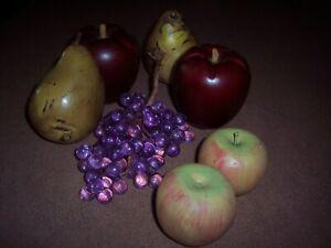 Decorative Wood Fruit - 7 Pieces