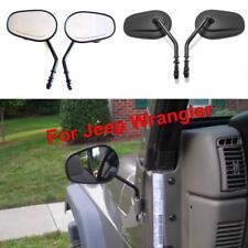 Jeep Wrangler mirrors 1987 - 2018 doors Hinge off round mirror set ridecraft NEW