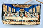 The LAST SUPPER Lords Jesus Christ Religious Tapestry Wall Hanging Vintage Italy