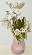 House of Igor Carl Faberge *The Imperial Place Bouquet* Painted Flowers in Vase