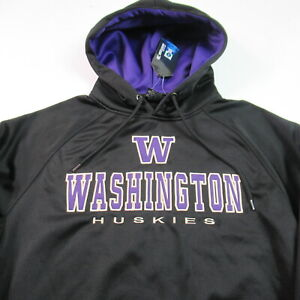 NWT Washington Huskies Hoodie Sweatshirt Pullover Stitched NCAA MENS SMALL