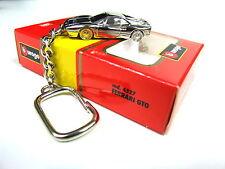 Burago Ferrari GTO Extremely rare Collectible chrome Plated Keyring 1:87