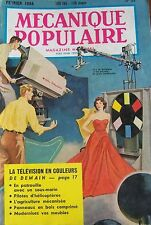REVUE MECANIQUE POPULAIRE N° 093 TELEVISION SOUS MARIN HELICOPTERE 1954