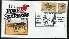 PONY EXPRESS COMMEMORATION FROM VAN TASSELL TO LUSK WYOMING 9/12/15  *
