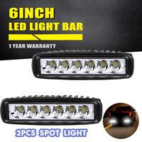 2X 6Inch 18W Led Work Light Bar Spot Off-Road Driving For 4Wd Lamp Atv Ute Truck