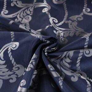 Tissu Coupe 280x280 CM Motif Damas Bleu Coussins Nappes Décor Maison