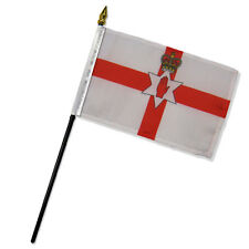 "Wholesale Lot of 12 Northern Ireland 4""x6"" Desk Table Stick Flag"