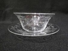WEBB CORBETT INTAGLIO FINGER BOWL AND UNDER PLATE # 1