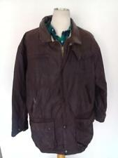 BARBOUR Bushman WAXED Jacket Brown Size Large