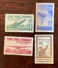 1941 TURKEY STAMPS COMPLETE MINT SET AVIATION