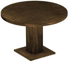 Gastronomie Säulentisch Rio Pinie massiv Holztisch rund 120 cm Esstisch Tisch