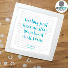 Personalised Song Lyrics Print Framed Or Poster Only | Favourite song, 1st Dance