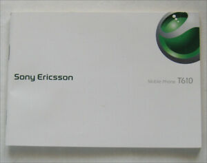 SONY ERICSSON T610 MOBILE PHONE INSTRUCTIONS IN ENGLISH - MINT CONDITION