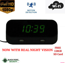 Full HD IR Night Vision WiFi Wireless Nanny Security Camera Clock Audio