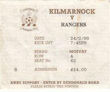 Ticket - Kilmarnock v Rangers 24.02.1998