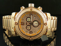 Aqua Master Rose Gold Stainless Steel Chrono 0.25ct Diamond Quartz Watch W#146