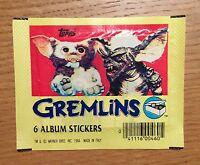 Gremlins (1984) X3 RARE Sealed Sticker Packs ~ Vintage ~ Topps