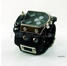 SteamPunk Watch Leather wide band Women Men  COOL Naughty Fashion Artistic 1217
