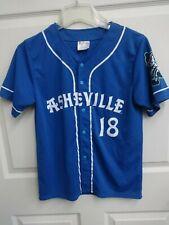 2018 MiLB Asheville Tourists SGA Button Front Baseball Jersey Youth L Blue