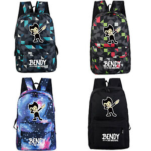 BENDY AND THE INK MACHINE Backpack Rucksack Schoolbag Travel Bag Kid Toys