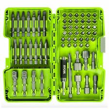 Ryobi Driving Drill Router Screwdriver Bit Set 68 Piece Bits Tool Accessories