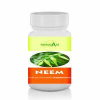 Herbal Aid Neem Leaf Extract 500mg 60 Capsules Skin Detox Herbal Supplement