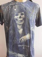 Minute Mirth Skull Pirate Tattoo Men T-shirt  M L