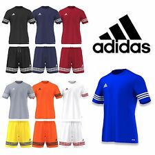 Mens Adidas T Shirt or Shorts Entrada Climalite Football Gym Training Top M L XL