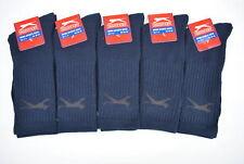10 Pairs Slazenger Mens Sports Crew Work Socks Navy Blue Colour Size 7-11