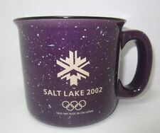 2002 Salt Lake City Winter Olympics Purple Speckled Coffee Mug Collectible