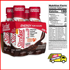 SlimFast Advanced Nutrition Creamy Chocolate Shake Ready to Drink Meal 4 Count